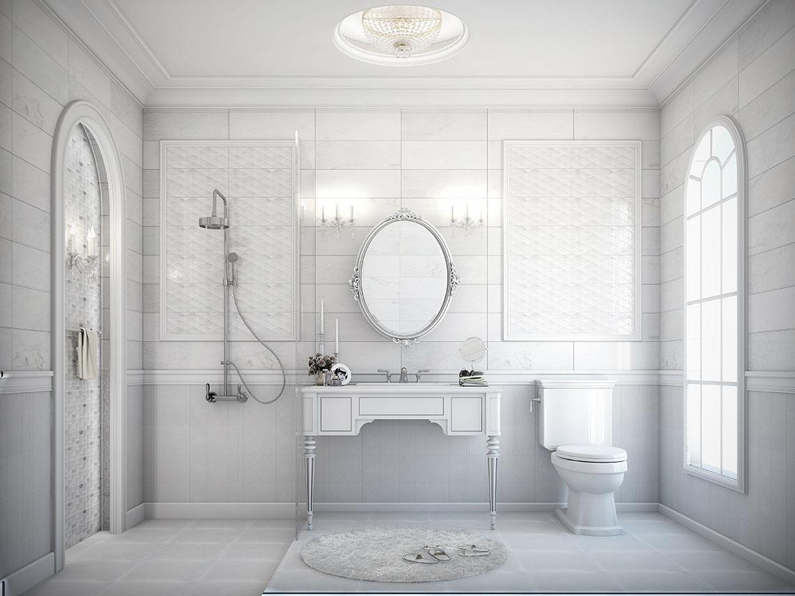รูปภาพห้องน้ำ buckingham สไตล์หรูหรา ดูอบอุ่น