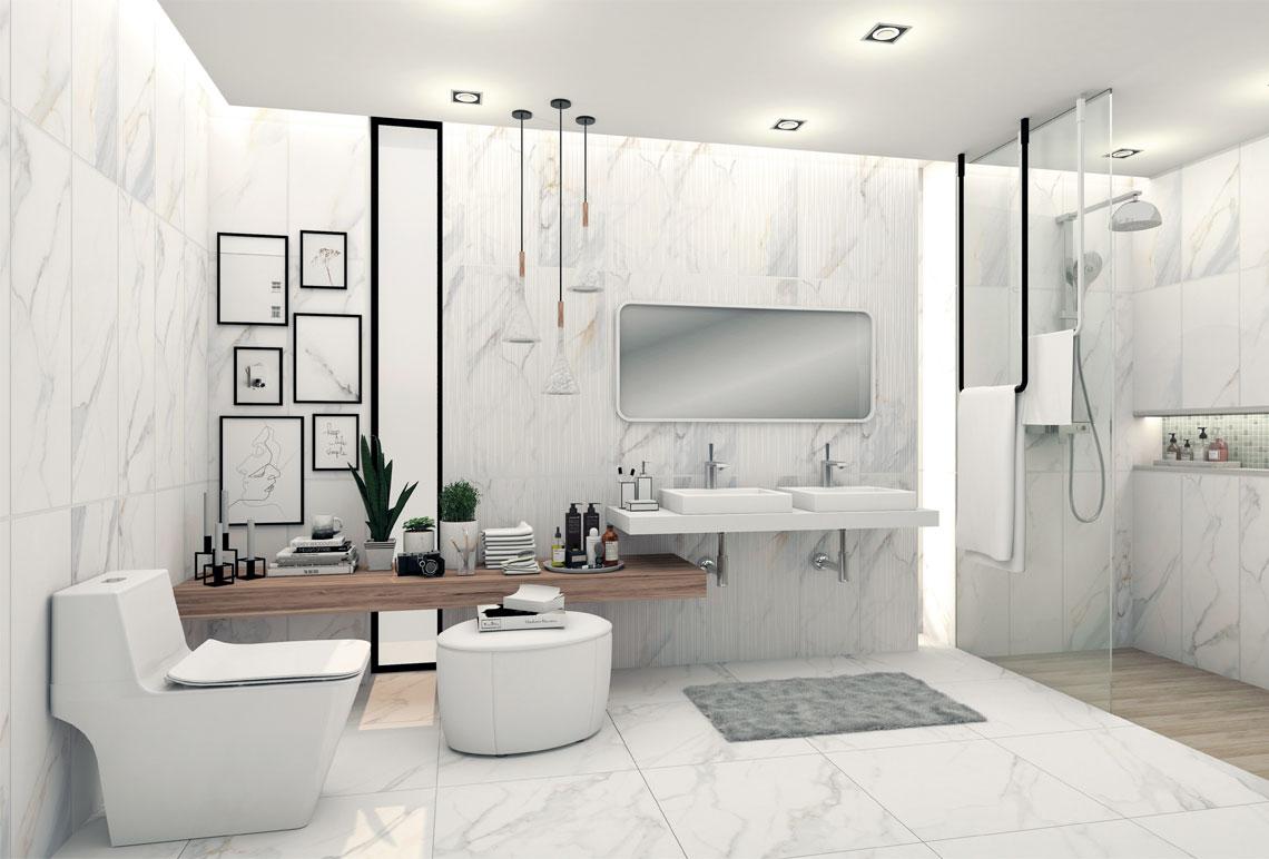 ห้องน้ำโมเดิร์น,แบบห้องน้ำสวยหรู,ห้องน้ำขนาดเล็ก,ห้องน้ำลายหินอ่อน