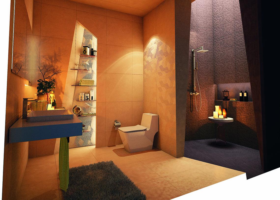 รูปแบบห้องน้ำ ในแบบธรรมชาติ สไตล์ Modern