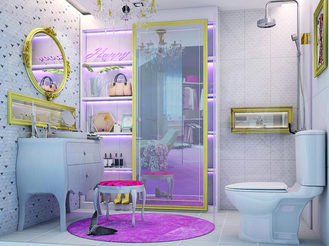 แบบห้องน้ำสวย Glam Series ดูหรูหราทันสมัย