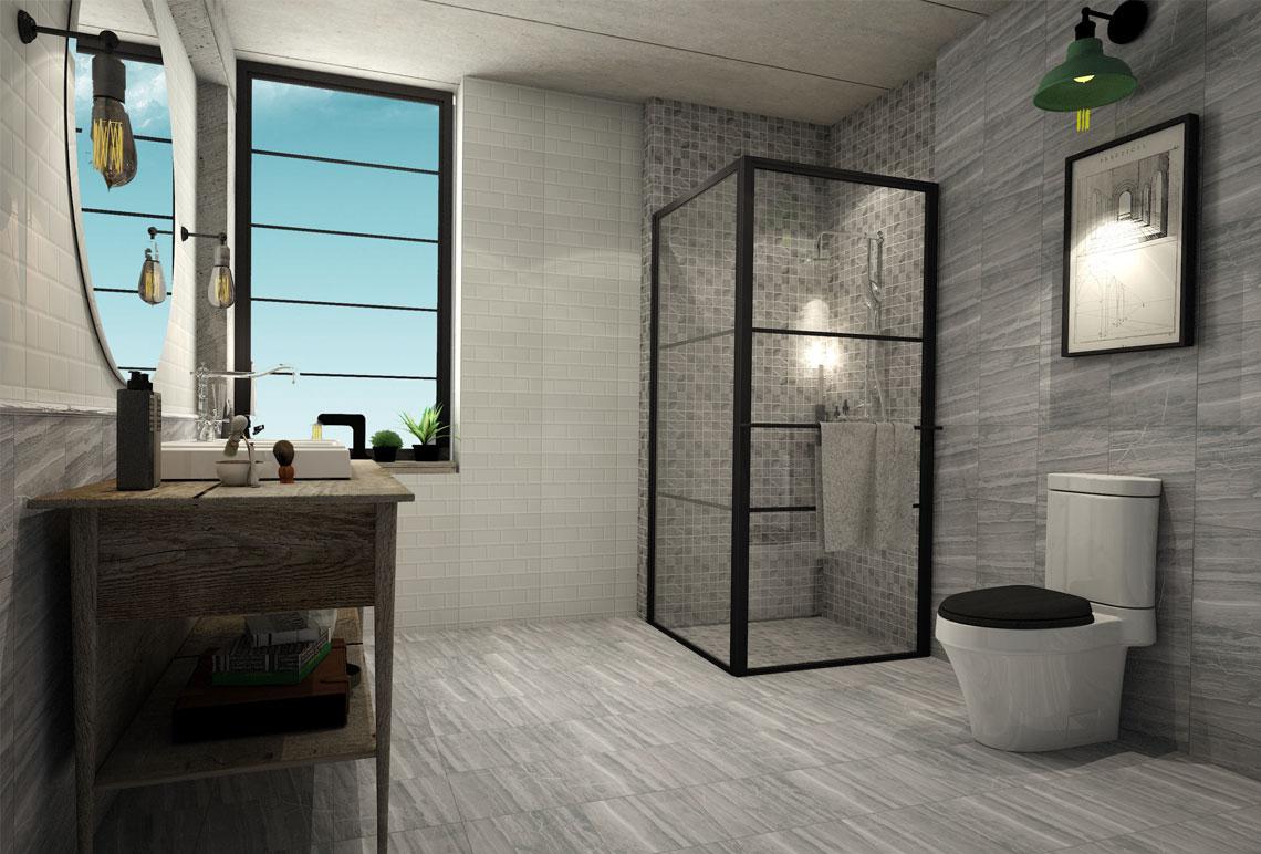 ห้องน้ำโมเดิร์น,ห้องน้ำลายหินอ่อน,แบบห้องน้ำ Modern,ห้องน้ำส่วนตัว
