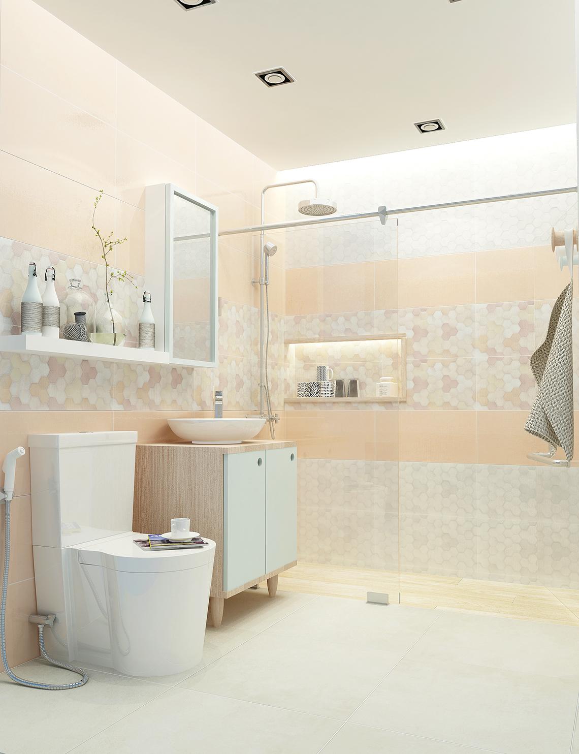 รูป ห้องน้ำ ลวดลายกราฟฟิค สร้างสรรค์ห้องน้ำ อย่างมีดีไซน์