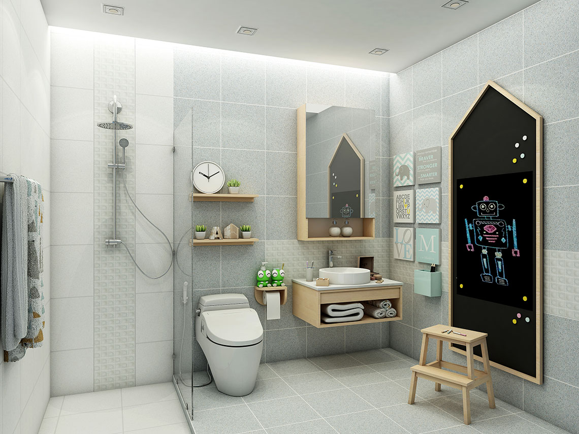 ไอเดียห้องน้ำ แบบ Minimal Style ที่นำเสนอความอบอุ่นสำหรับทุกคนในครอบครัว