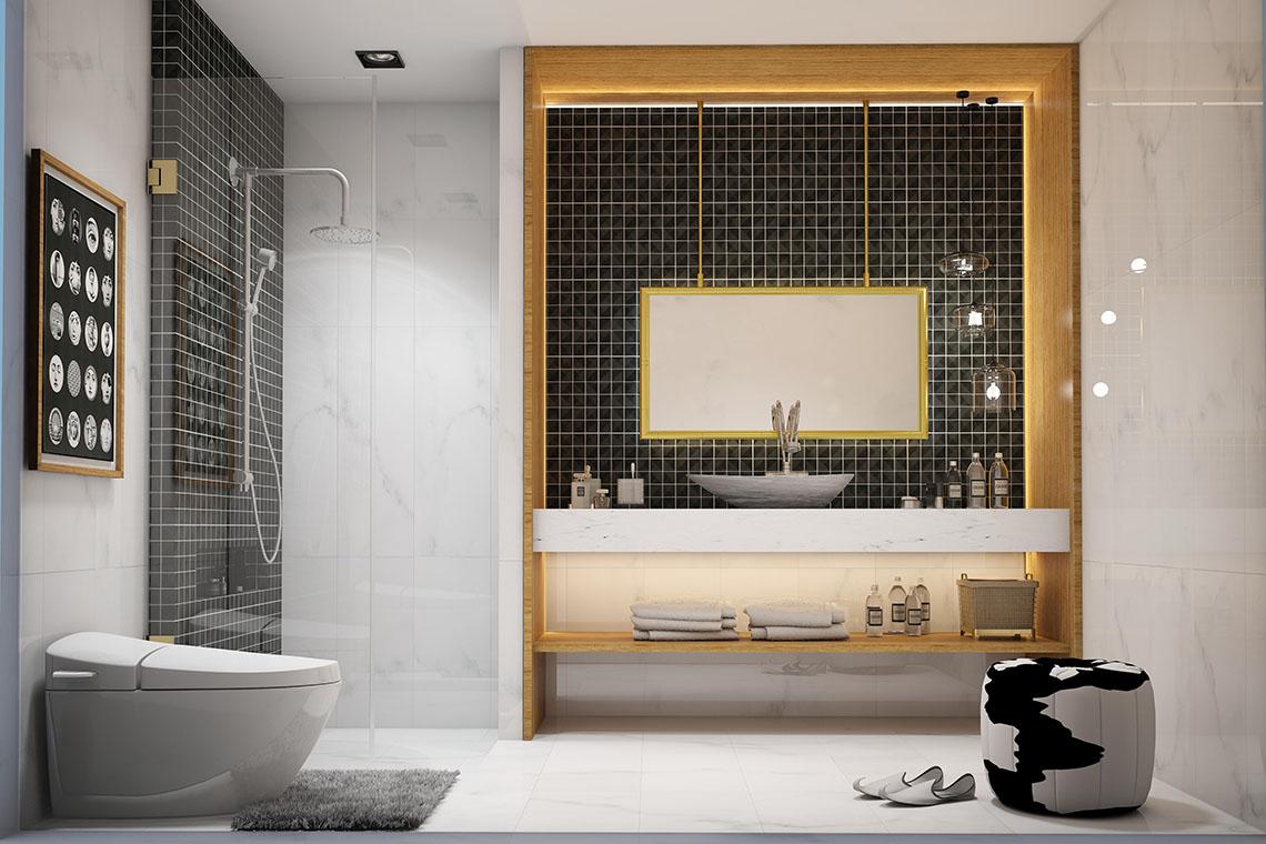ภาพ ห้องน้ำ ที่ได้แรงบันดาลมาจาก Black Crystal