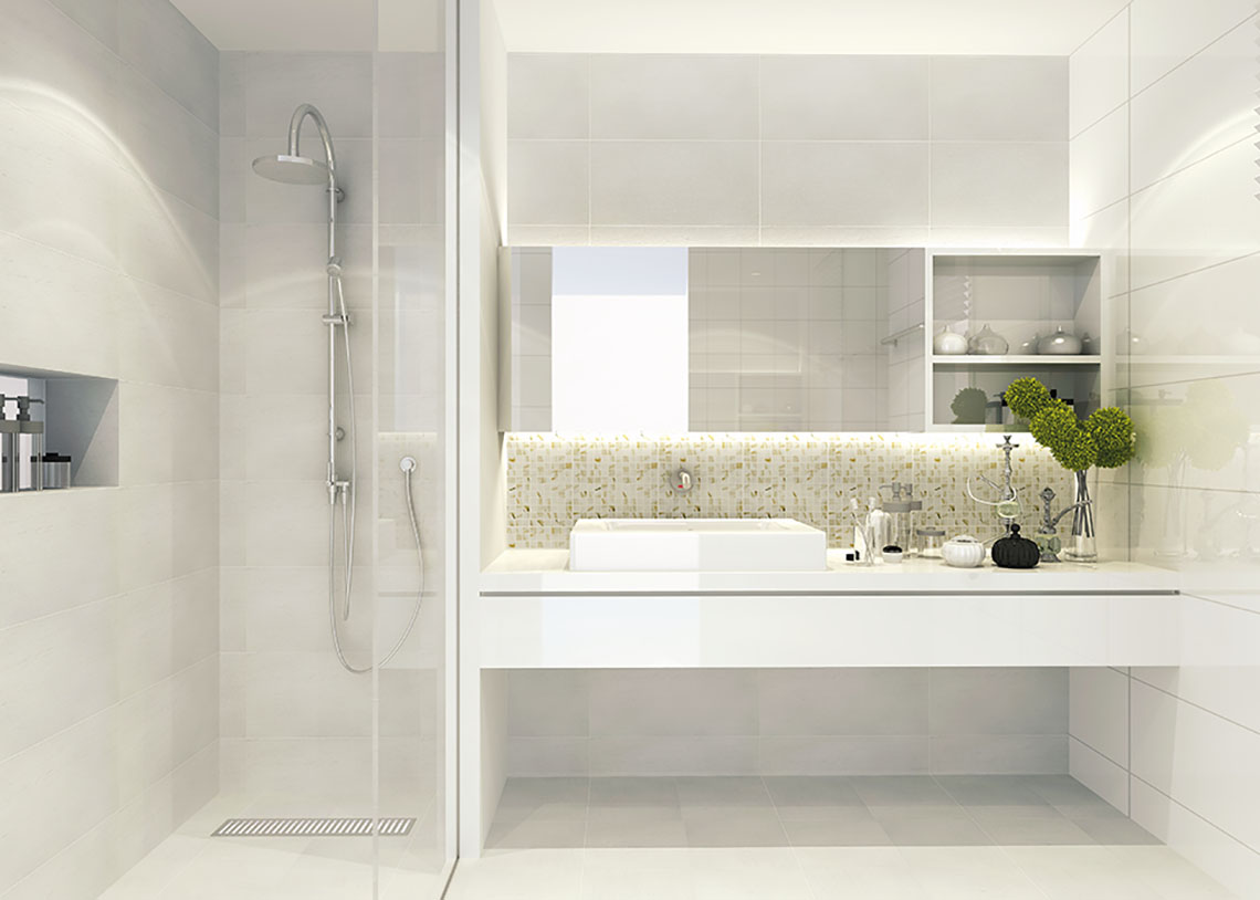 ภาพ ตัวอย่างห้องน้ำ แบบเรียบ