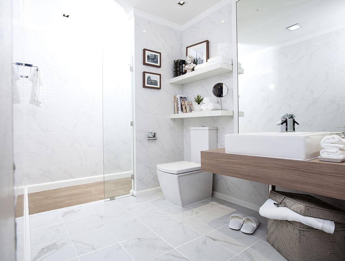 ภาพห้องน้ำ ลายหินอ่อน สไตล์อิตาลี