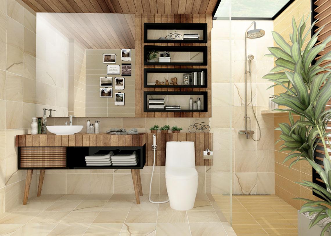 แบบห้องน้ำ สเน่ห์ธรรมชาติ ห้องน้ำสไตล์โมเดิร์น