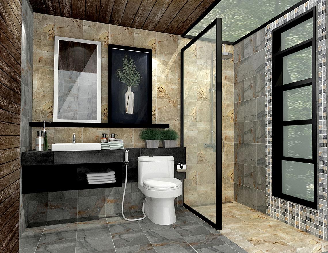 ไอเดียแต่งห้องน้ำ สไตล์หินธรรมชาติ