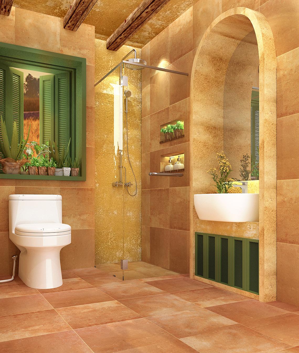 แบบห้องน้ำ สไตล์อิตาลี